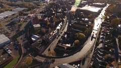 Stourbridge Town Centre and Ring Road. Stock Footage