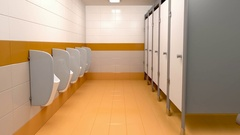 Men's public toilet Stock Footage