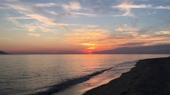 Time lapse sunset Stock Footage