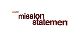 Mission statement animated word cloud. Stock Footage