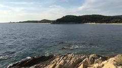 Bay of Destenika at the Sithonia peninsula Stock Footage