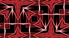 Red Pulsing Intricate Symmetry Pattern Abstract Motion Background Loop 1 Stock Footage