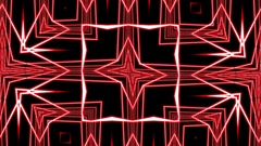 Red Square Grid Intricate Flowing Pattern Abstract Motion Background Loop 2 Stock Footage