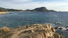 Toroni beach at the Sithonia peninsula Stock Footage