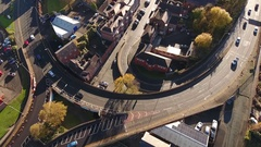 A busy British road. Stock Footage