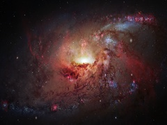 Travelling to the center of the galaxy in the universe Stock Footage