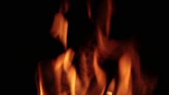 Flames of fire in a fireplace. Stock Footage