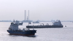 WS PAN Oil Tankers in harbor . Singapore Stock Footage