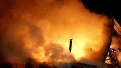 Fire. Blaze Inferno conflagration and combustion. Stock Footage
