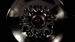 Ferrofluid. Beautiful forms. Stock Footage