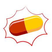 Pill pharmacy isolated. Medicinal drugs on white bubble Stock Illustration