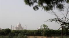WS LS Taj Mahal / Agra, India Stock Footage