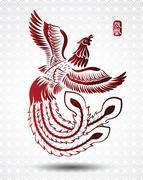 Chinese phoenix Piirros