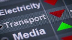 Index of Transport industry on the screen. Down. Looping. Stock Footage