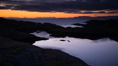 Beautiful sunrise on the Outer Hebrides, Scotland Stock Footage