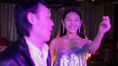 MS Young people dancing and smiling in night club / China Stock Footage