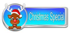 Christmas Special button - 3D illustration Stock Illustration
