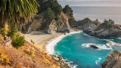 San Francisco coast. Beach. Timelapse. America. USA. California Stock Footage
