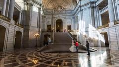 San Francisco City hall inside. Wedding ceremony. America. USA. California Stock Footage
