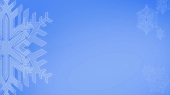 Snow Icon or symbol Animate on Blue background Stock Footage