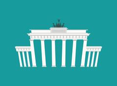 Brandenburg Gate, Landmark Germany. Historic architecture building in Berlin Stock Illustration