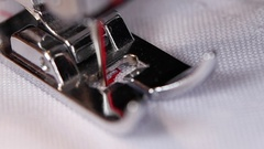 Sewing machine, sewing screening process. Close up. Slow motion Stock Footage