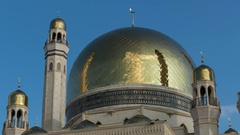 Almaty Mosque   Time Laspe 4K Stock Footage