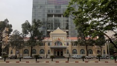 WS TU National Treasury Building and Bitexco Financial Tower / Ho Chi Minh, Stock Footage