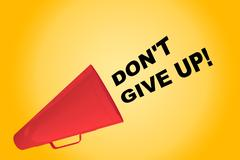 Don't Give Up! concept Stock Illustration