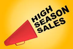 High Season Sales concept Stock Illustration