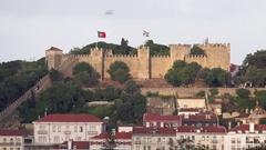 Castle of San Jorge Stock Footage
