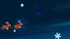 Santa Claus in a sleigh with reindeer Stock Footage