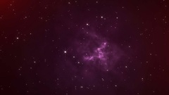 The slow movement of the stars in the Universe. Stock Footage