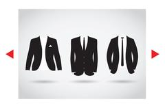 Suit selection Stock Illustration