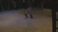 Irish dancer man perform folk dance Stock Footage