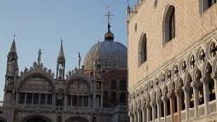 MH LD Exterior of Santa Maria Della Salute / Venice, Italy Stock Footage
