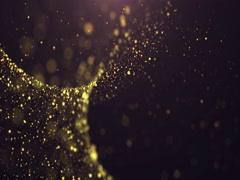 Gold Glitter Background. Stock Footage