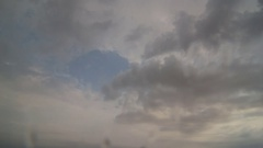 Black clouds over the desert locality Stock Footage