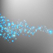 Blue glittering star dust trail. EPS 10 Stock Illustration