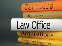 Stack of books, Law office Stock Photos