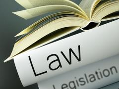 Stack of books, law, legislation, Legal system Stock Photos