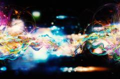 Modern abstract motion banner on dark background Piirros