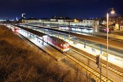 Main Station in Bratislava Stock Photos