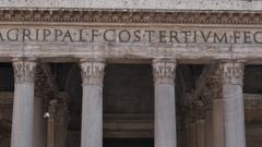 Fontana Del Pantheon & The Pantheon, Piazza Del Rotonda, Rome, Lazio, Italy, Stock Footage