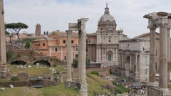 The Roman Forum, Rome, Lazio, Italy, Europe Stock Footage
