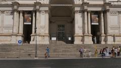 Palazzo delle Esposizioni Via National, Rome, Lazio, Italy, Europe Stock Footage