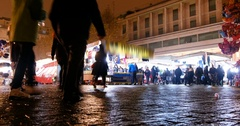 Reggio Emilia San Prospero Day by night in Market Plaza Stock Footage