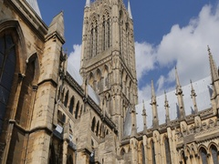 View of Cathedral, Lincoln, Lincolnshire, England, UK, Europe Stock Footage
