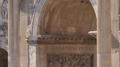 Arc of Constantine, Rome, Lazio, Italy, Europe Stock Footage