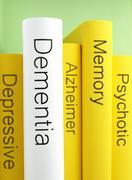 Books, dementia, Alzheimer's disease, Memory loss, depression Stock Photos